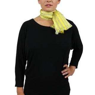 Valentino ST52X1 ST Fine Yellow Raw Silk Scarf - 12-43