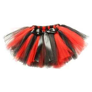 Little Girls Red Black Super Fluffy Tutu Skirt 1-4T