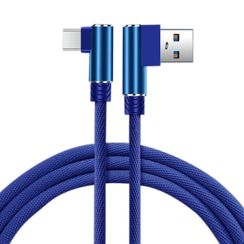 3.3FT Nylon braided Material Type C USB 2.0 Data Cable