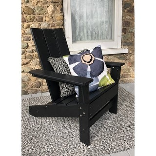 Link to Hawkesbury Recycled Plastic Modern Adirondack Chair by Havenside Home Similar Items in Outdoor Sofas, Chairs & Sectionals