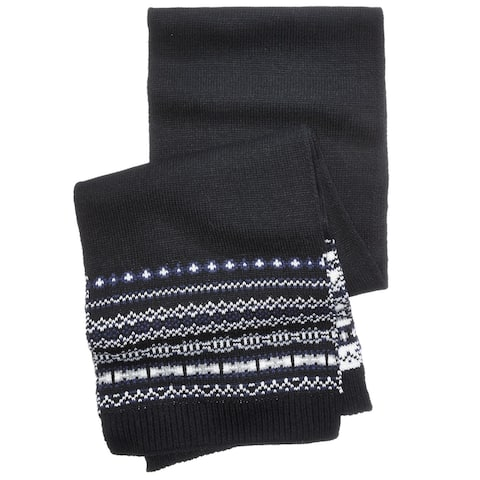 Club Room Mens Winter Scarf, black, One Size - One Size