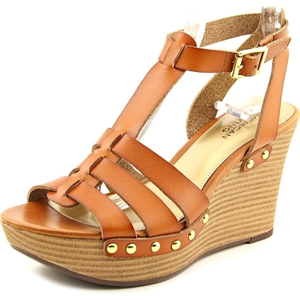 American Living Abaline Women Open Toe Synthetic Tan Wedge Sandal