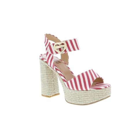 Love Moschino Striped Platform Heel Sandal-