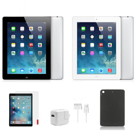 Apple iPad 2 Wi-Fi Only - Bundle: Case, Tempered Glass, & Charger! (Refurbished)