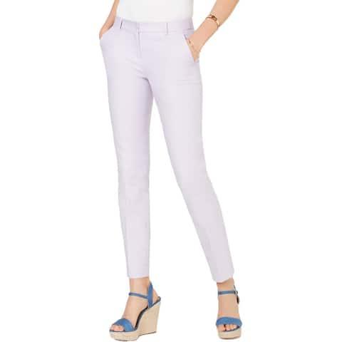 MICHAEL Michael Kors Womens Miranda Dress Pants Woven Flat Front