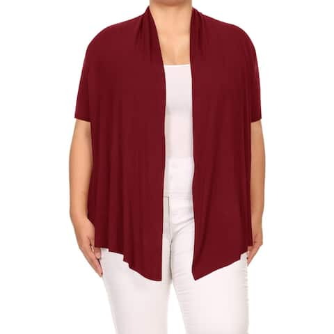 Women's Solid Plus Size Casual Sweater Cardigan