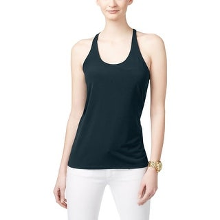 MICHAEL Michael Kors Womens Halter Top Matte Jersey Sleeveless