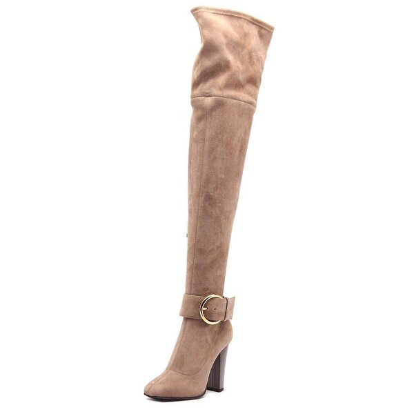 Giuseppe Zanotti Alabama 105 CRD Women Round Toe Suede Tan Over the Knee Boot