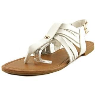 Adriana New York Acacia-40 Women Open Toe Synthetic White Gladiator Sandal