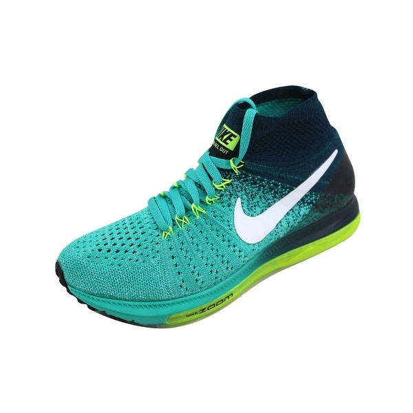 8c058663cf74 Shop Nike Women s Zoom All Out Flyknit Clear Jade White-Midnight ...