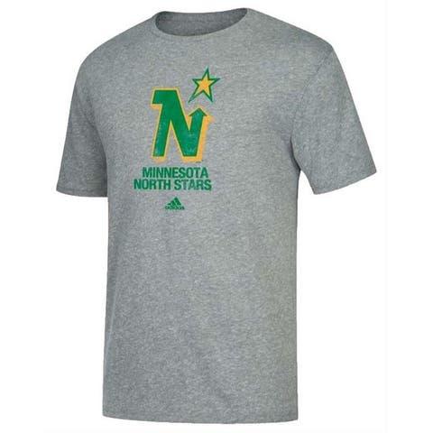 Adidas Men's Minnesota North Stars NHL Retro Hockey Tee Shirt Heritage MNS6HOY - Gray