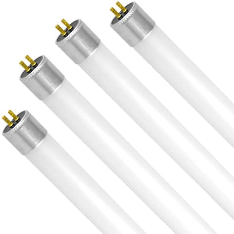 Luxrite 4FT LED Tube Light, T5 HO, 25W (54W Equivalent), 3200 Lumens, Ballast Bypass, 120-277V, G5 Base (4 Pack)