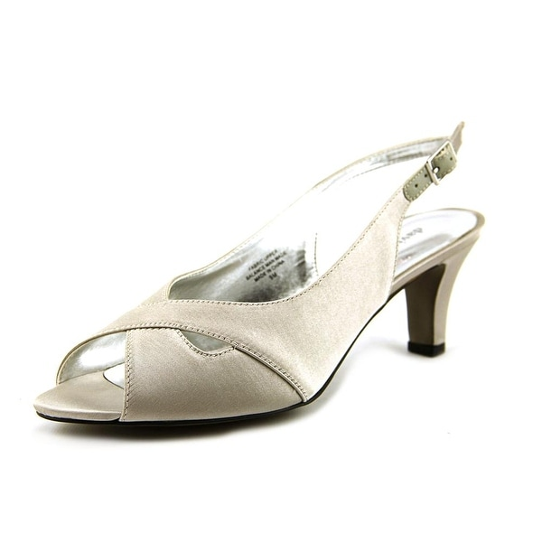 David Tate Palm Women Silver Pumps