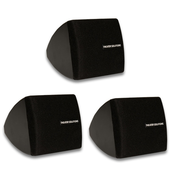Theater Solutions TS30B Mountable Indoor Speakers Black 3 Piece Pack TS30B-3S