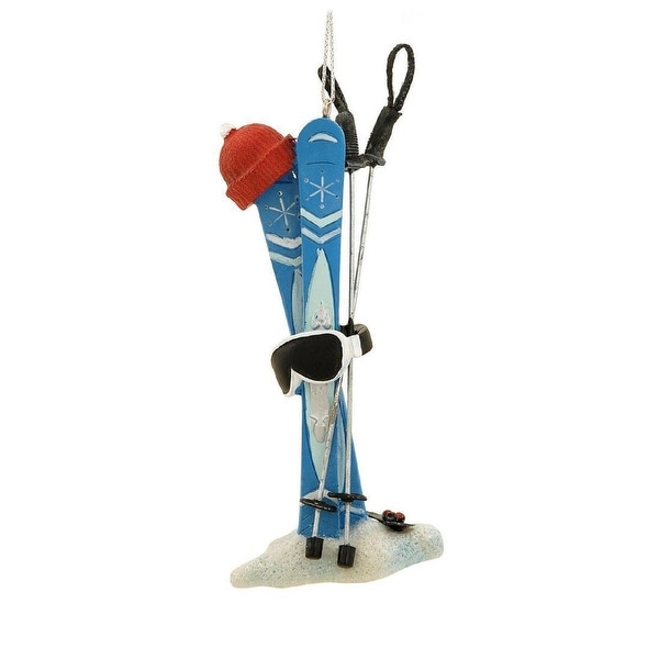 "5"" Blue Winter Skiing Equipment Christmas Ornament"