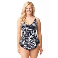 Sea & Sand Beachwear Sarong One Piece Bathing Suit