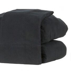 Flannel Sheet Set Heavyweight 190GSM Ultra Soft 4 Pcs Black Queen Size