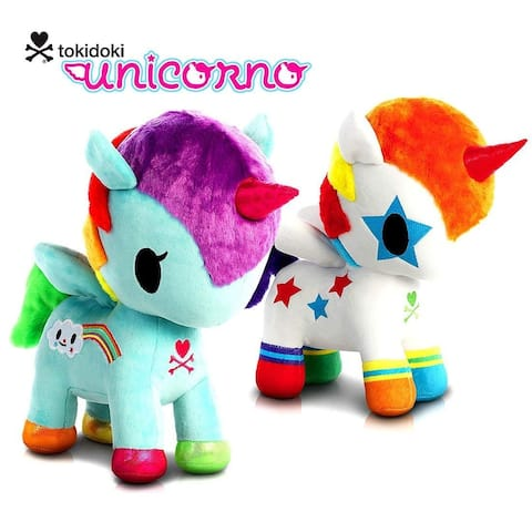 "Aurora Tokidoki Bowie Unicorno 11"" and Tokidoki Pixie Unicorno 11"" High Quality Plush Toys (2 items)"