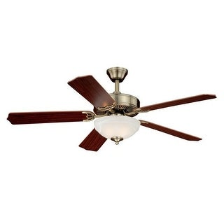 """Vaxcel Lighting F0026 Essentia 52"""" 5 Blade Indoor Ceiling Fan - Light Kit and Blades Included - Antique Brass"""