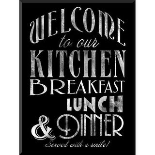 PTM Images 1583114 Welcome to Our Kitchen Chalkboard-Look Sign