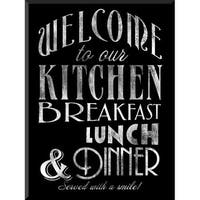 PTM Images 1583114 Welcome to Our Kitchen Chalkboard-Look Sign - N/A