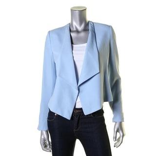 Calvin Klein Womens Petites Open-Front Blazer Asymmetric Long Sleeve - 4P