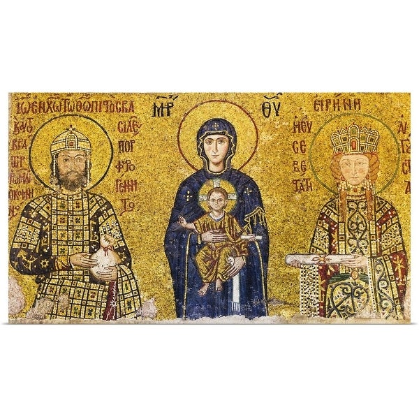 3610cd9bc811a Shop Mosaic of Virgin Mary holding Jesus - Multi-color - Free ...