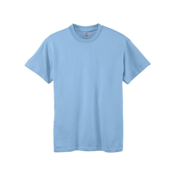 ddd23029 Shop Hanes Boys' TAGLESS® ComfortSoft® Crewneck T-Shirt - Size - M - Color  - Light Blue - Free Shipping On Orders Over $45 - Overstock - 13920853