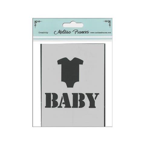 St4018 melissa frances stencil 3x4 baby t-shirt