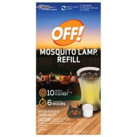 Off 76086 Mosquito Lamp Repellent Refill, 10' x 10' SQFT Protection, 2-Count
