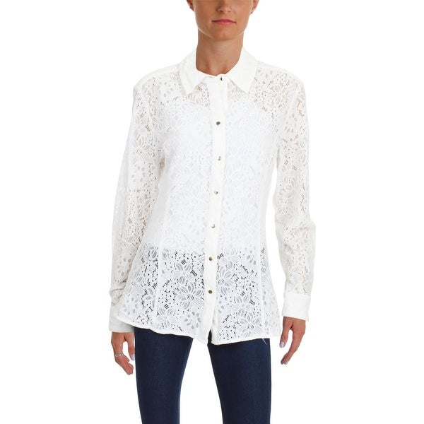 c408e1a9e34022 Shop Tommy Hilfiger Womens Blouse Lace Professional - Free Shipping On Orders  Over $45 - Overstock - 26474621
