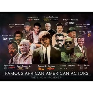 Famous African American Actors Poster Art Print (18x24)