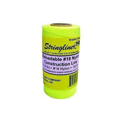 Stringliner 35165 Nylon Braided Construction Line, Fluorescent Yellow, 250'