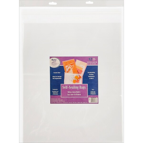 "Self-Sealing Bags 12/Pkg-16.25""X20.25"" Clear"