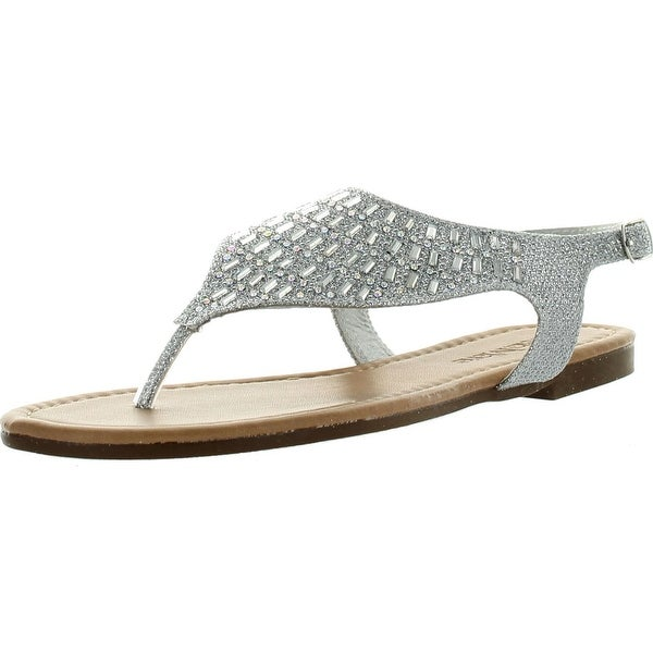 Bellamarie Alice-7 Womens Flat Rhinestone Thong Sandals