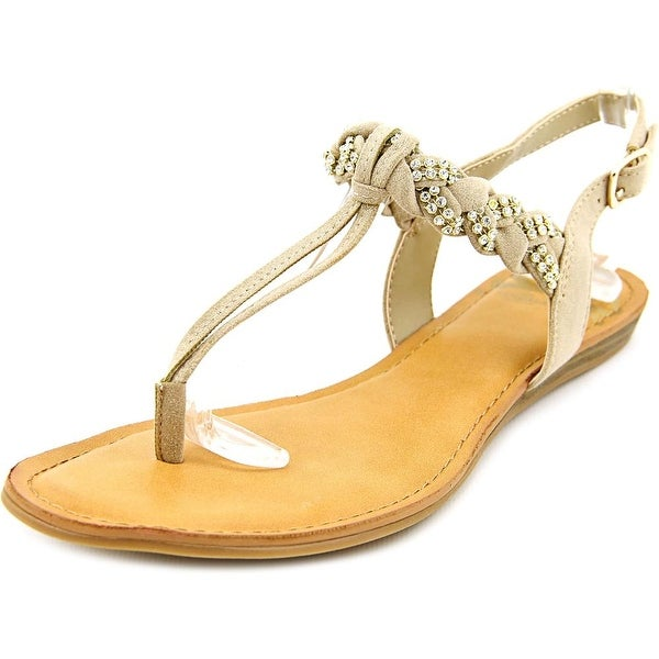 Fergalicious Shelly Women Open-Toe Canvas Tan Slingback Sandal