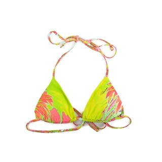 Roberto Cavalli Green Pink Abstract Print Two Piece Bikini - XXS