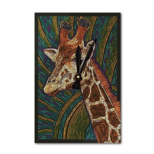 Giraffe - Paper Mosaic - LP Artwork (Acrylic Wall Clock) - acrylic wall clock