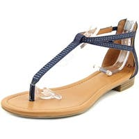 Style & Co Brinna Women  Open Toe Canvas Blue Thong Sandal