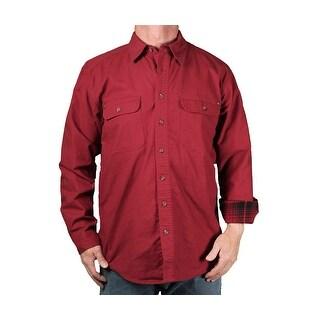 Tallwoods Men's Flannel Lined Twill Shirt