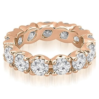 2.70 cttw. 14K Rose Gold Round Diamond Eternity Ring
