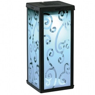 Smart Solar 3011WRM1 Frosted Scroll Square Solar Lantern