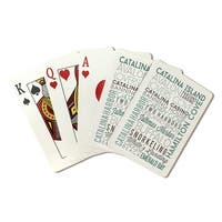 Catalina Island, CA - Typography - LP Artwork (Poker Playing Cards Deck)