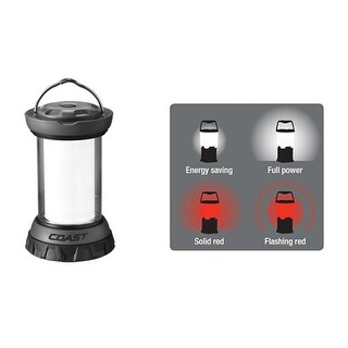 Coast 20325 EAL12 Emergency Area Lantern, Black