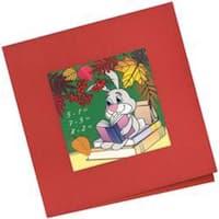 "5.5""X5.5"" - School Card Stamped Cross Stitch Kit"