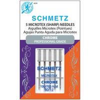 Chrome Microtex Machine Needles-Size 80/12 5/Pkg