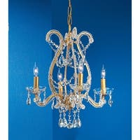 """Classic Lighting 69724-OG 20"""" Crystal Chandelier from the Aurora Collection"""