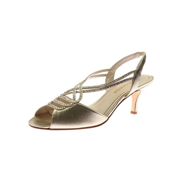 Caparros Womens Philomena Slingback Sandals Metallic Embellished