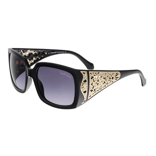 Roberto Cavalli RC804S ALDEBARAN 01B Black Rectangle Sunglasses - 59-21-135