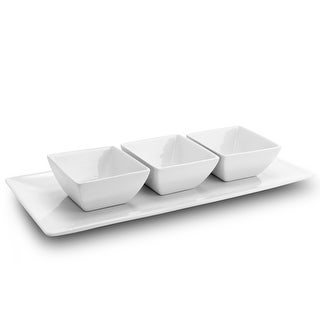 Link to Gibson gracious Dining 3 pc Tidbit Serving Dish Set with Tray in White Similar Items in Serveware
